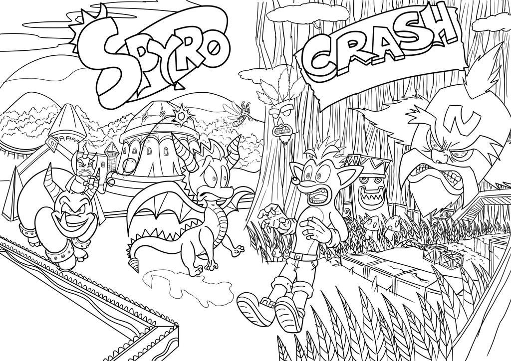 Spyro Crash Inks by zeldalegends4525