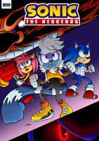 Sonic The Hedgehog IDW Mock Cover by zeldalegends4525