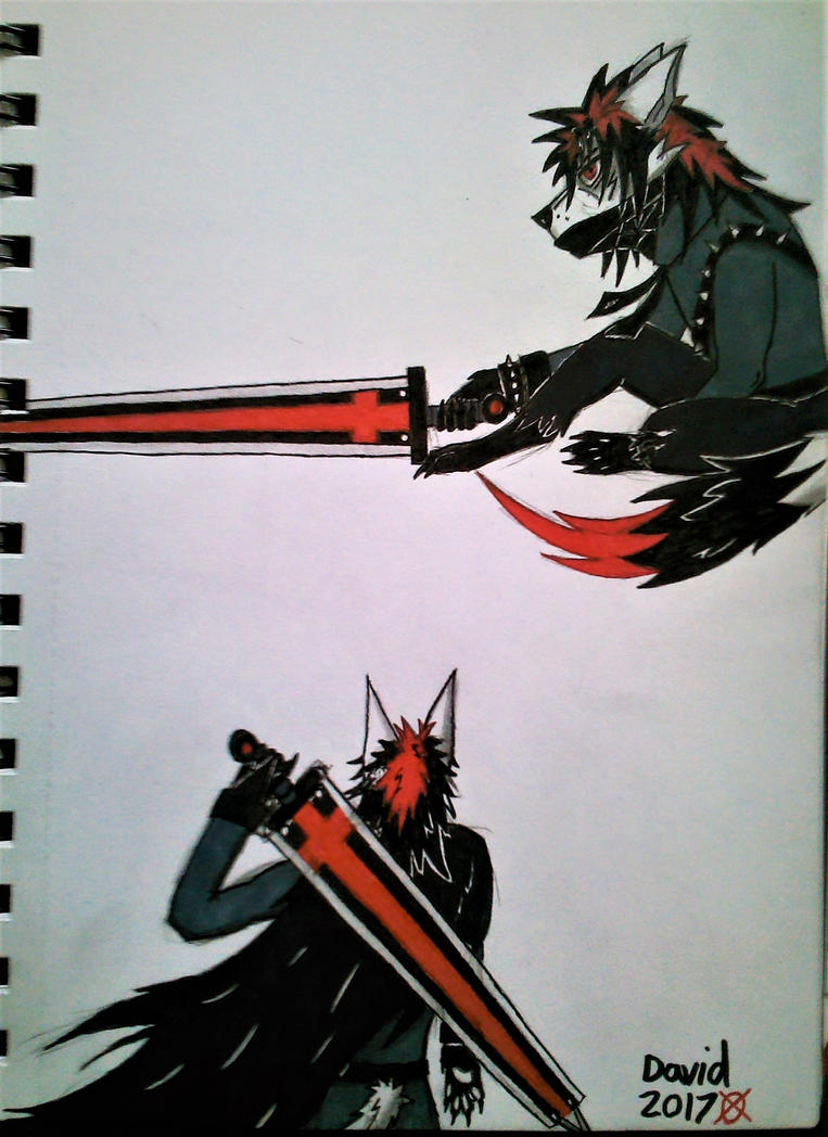 Michael swordsman sketches by SlenderDave666