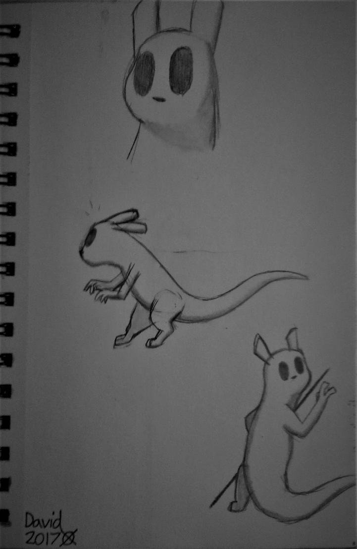Rain World~Slugcat sketches by SlenderDave666