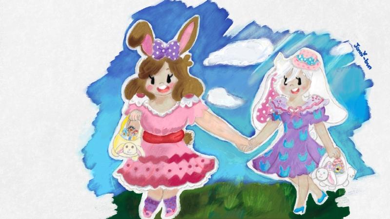 Bun bun Queen and Princess by PK-BumbleBee
