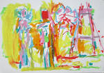Abstract man and woman,giantflower and the easel by 7markus7