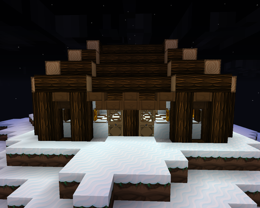 Minecraft Snow house Front by 3rdPlaceGamer - 450.2KB