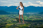 Giantess Nina Agdal in your town