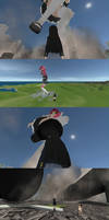 Some Screenshots of Sizebox MMD giantess game
