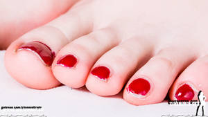 Giantess Vanessa V's toes - with a tiny guy by Cinematic-GTS