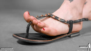 Giantess Alina - micro people crush in sandals by Cinematic-GTS