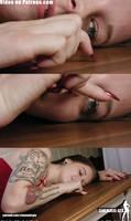 Alina finger crush VFX video by Cinematic-GTS