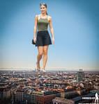 Giantess Ann-Kathrin Broemmel in Munich