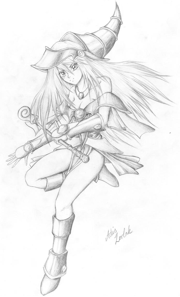 dark magician girl coloring pages - photo#4