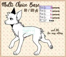 [P2U BASE] multi-choice canine base pack by gothicwaifu