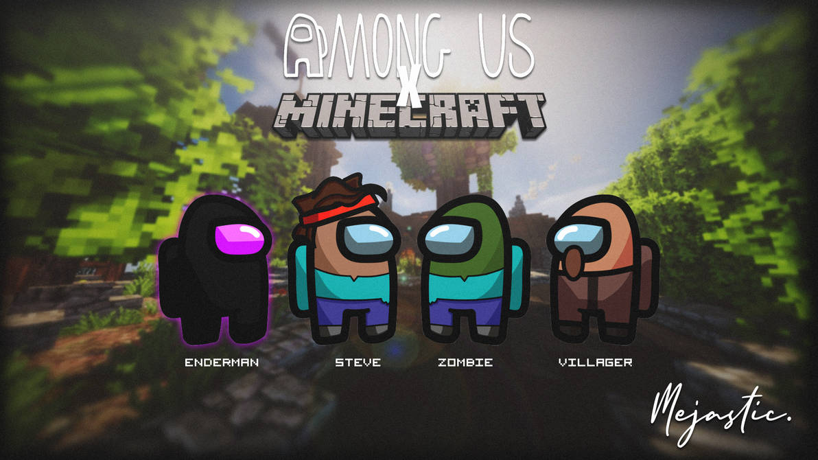 Among Us x Minecraft: Custom Skins by azunyansama on DeviantArt