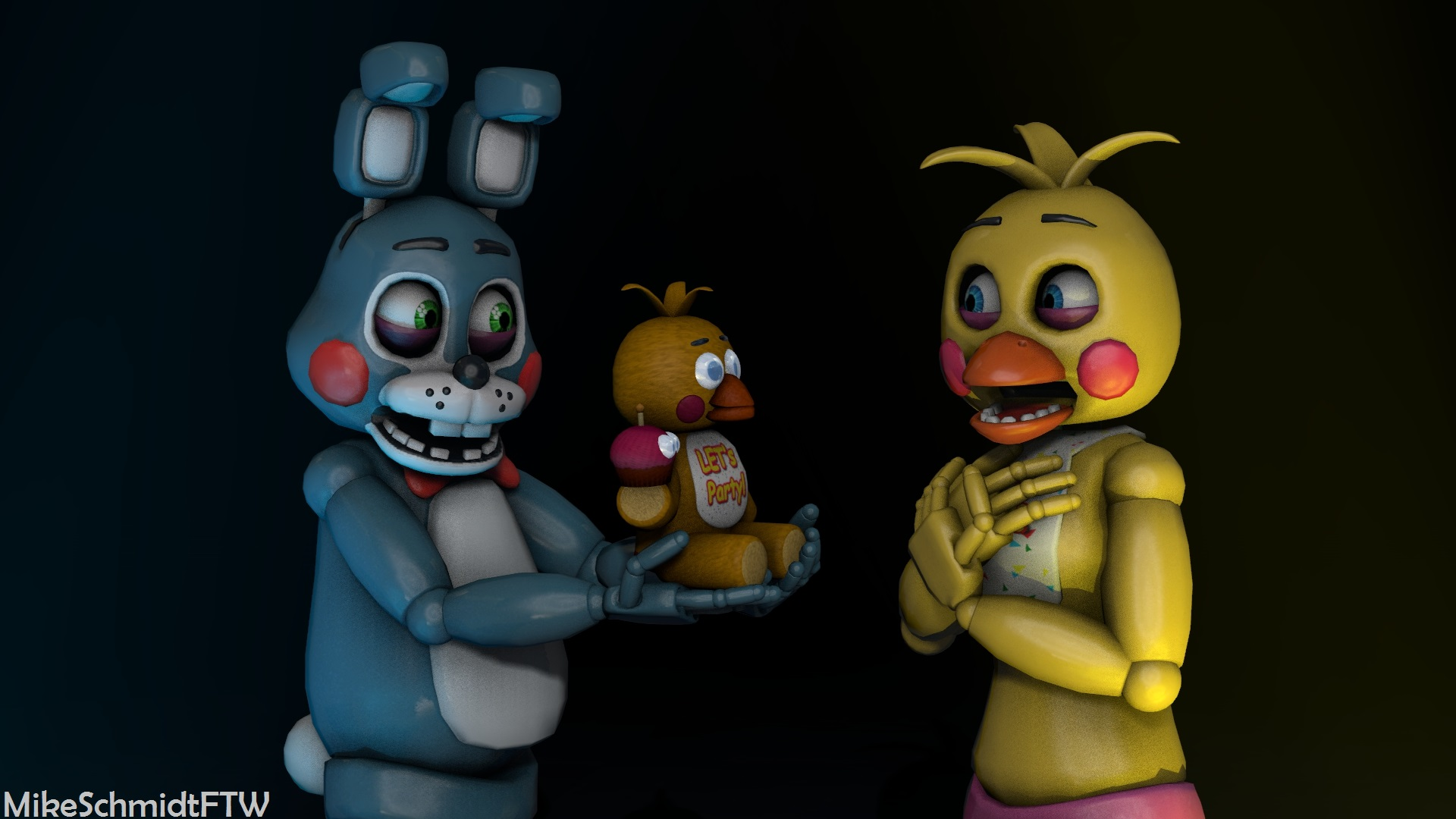 Toy Bonnie And Toy Chica By Officerschmidtftw On Deviantart
