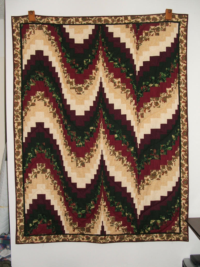 Xmas Bargello Quilt by quiltfreak8