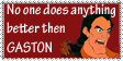 Gaston is the best  stamp by mariekelikestodrawn