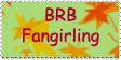 Brb, fangirling stamp by mariekelikestodrawn