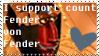 Count Fender von Fender stamp by mariekelikestodrawn