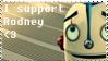 Rodney - Robots Stamp by mariekelikestodrawn