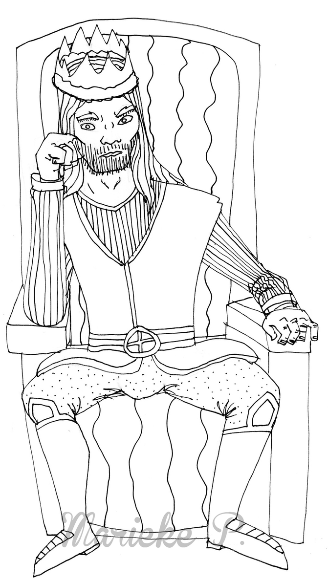 Kings Throne Drawing King on Throne by