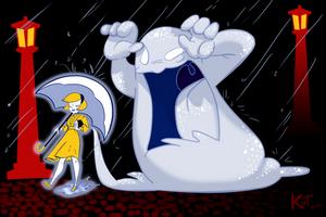 Arcade Stick Commission - Salt Girl and Monster