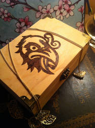 Pyrographic Bioshock - Murder of Crows - Chest by Miss-Interocitor
