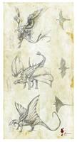 Prehistoric dragons Tribute by Kevcatalan
