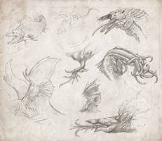 Lovecraft Sketches by Kevcatalan