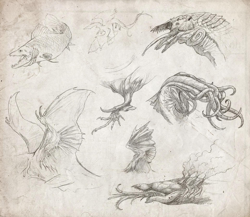 Lovecraft Sketches by Kevin-Studios