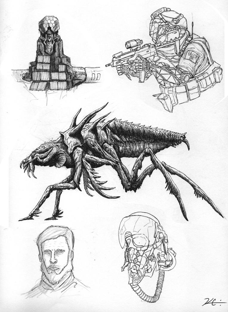 Some Sketches by Kevin-Studios