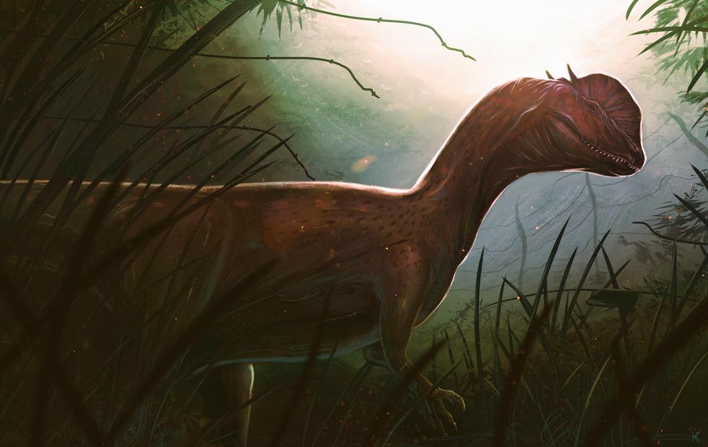 Dilophosaurus by Kevin-Studios