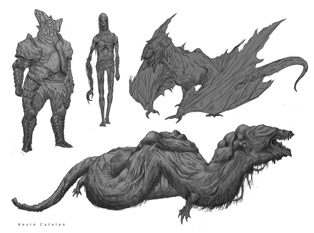 Creature Design dump 2 by Kevin-Studios
