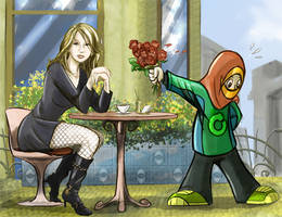 Deborah's blind date by MisterEye