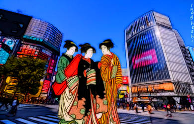 Famous views 2 - Shibuya Crossing