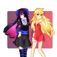 panty and stocking by 8itchtier