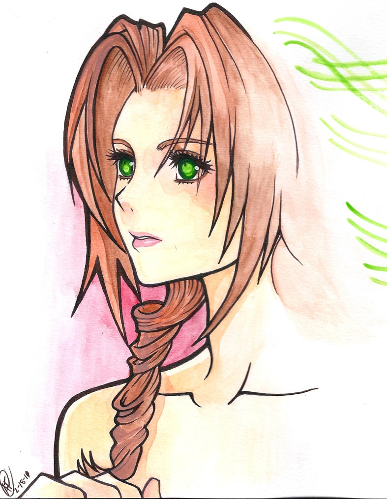 Aerith Gainsborough by Azul0blue0sky