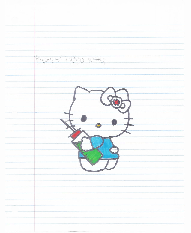hello kitty coloring pages nurse - photo#28