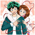 FanArt || Izuku Midoriya y Uraraka Ochako