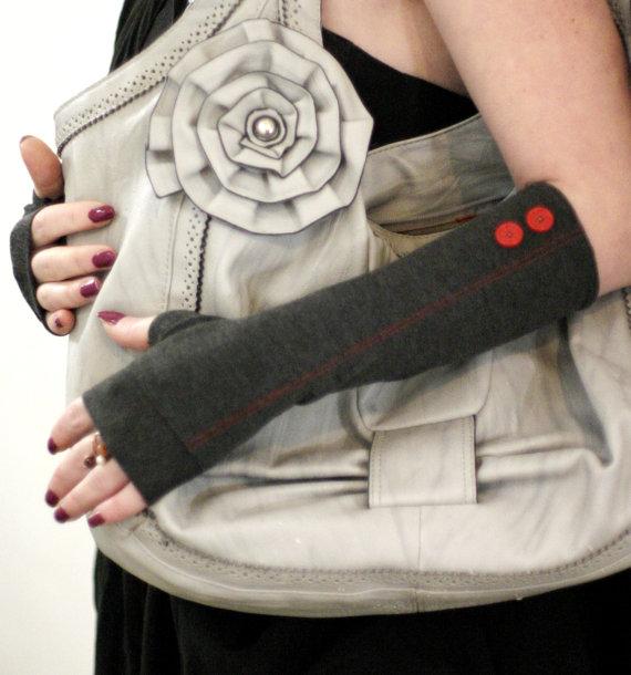 Fingerless Gloves - jersey arm warmer cuffs by WearMeUp