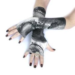 Ferris Wheel fingerless gloves