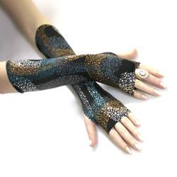 Ocean Splatter fingerless gloves