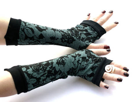 Winter Garden Arm Warmers,Fingerless Gloves - Very