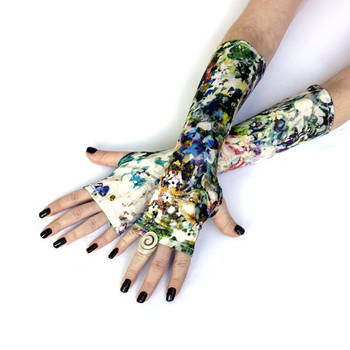 Summer Hill Fingerless gloves, mittens, arm warmer