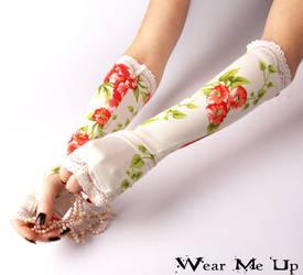 Wedding, Bridal fingerless gloves
