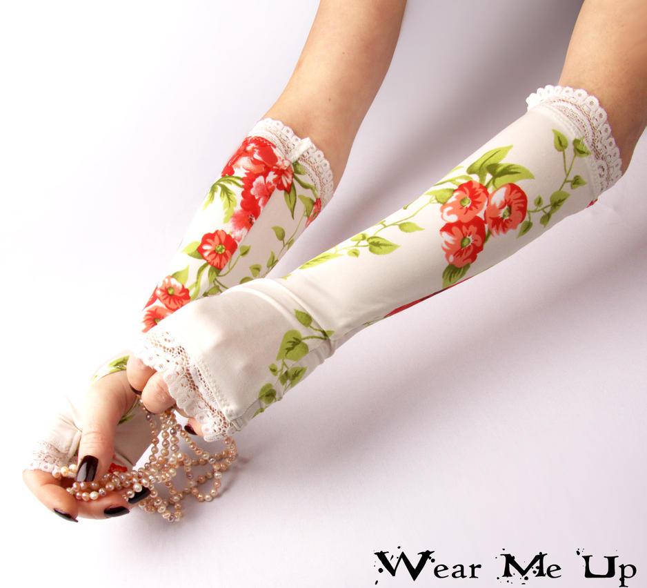 Wedding, Bridal fingerless gloves by WearMeUp