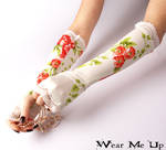 Wedding, Bridal fingerless gloves