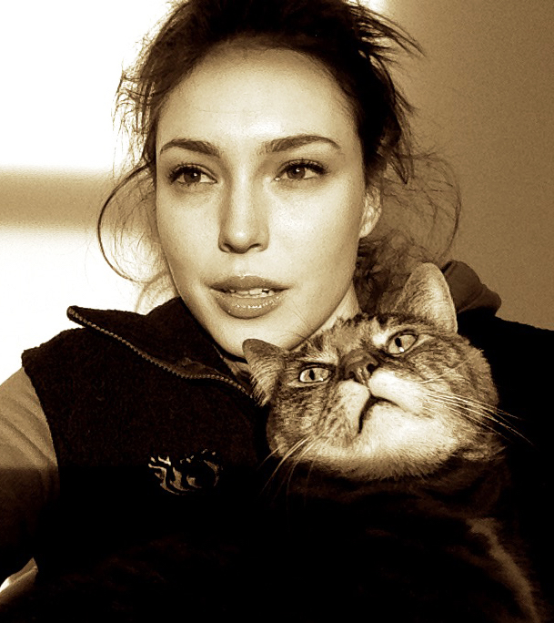 Some very serious modelling...with my cat