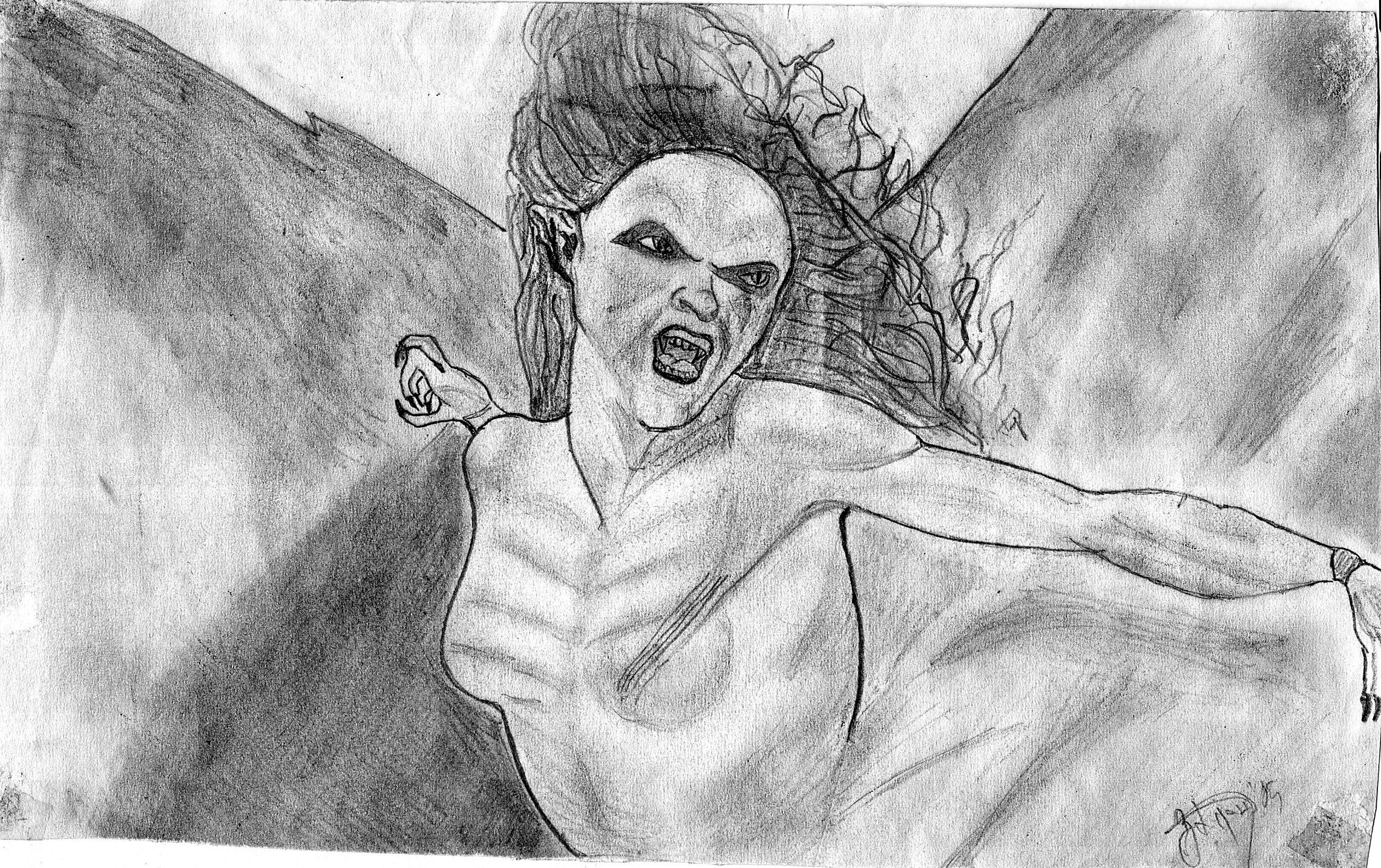 Werewolf Vs Vampire Drawings Van helsing vampire girl byVan Helsing Drawing