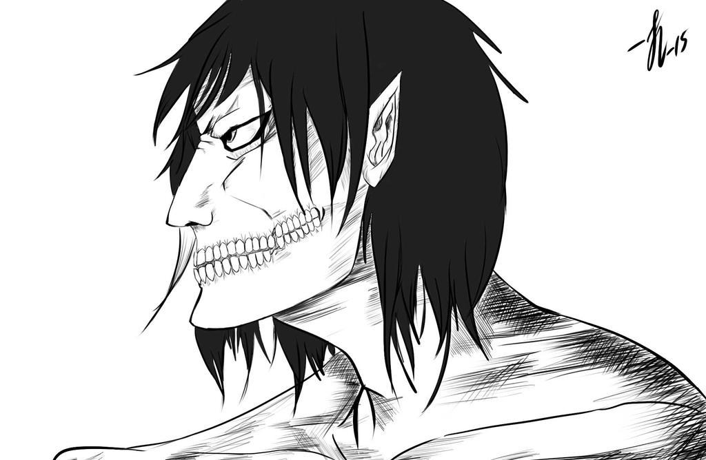 Eren Titan, sketch by MsCarl555