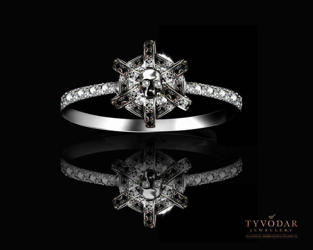 gold skull skull and diamonds engagement ring by tivodar66 on deviantart. Black Bedroom Furniture Sets. Home Design Ideas