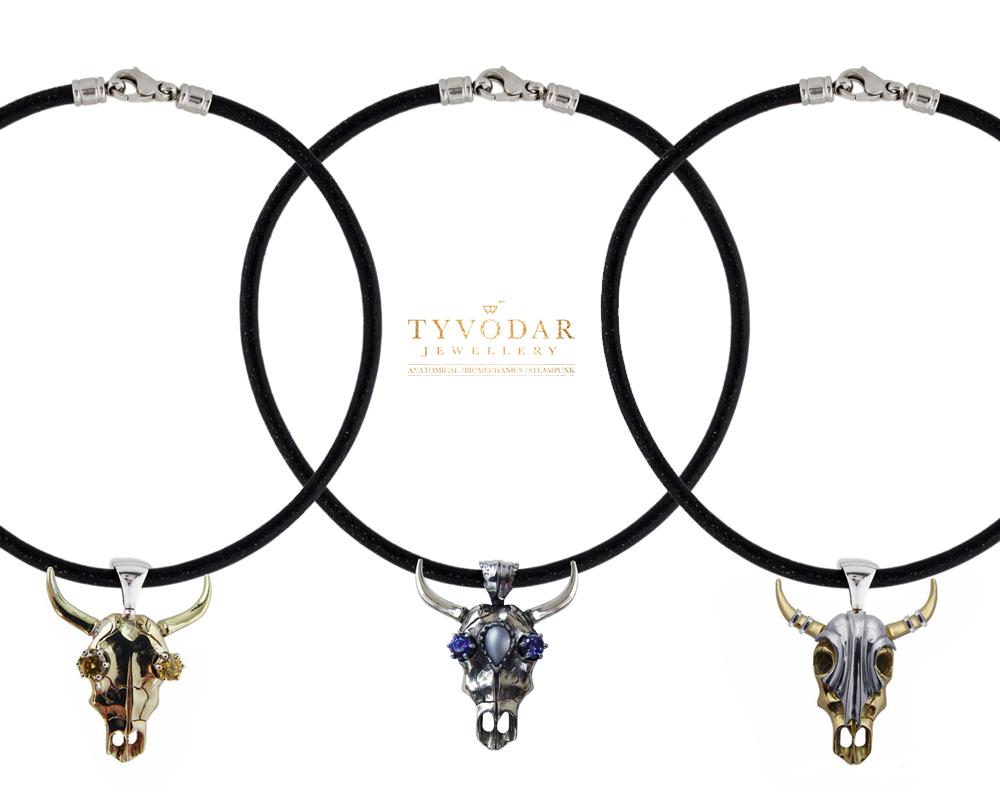 bovem calvariam bull skull necklace by tivodar66 on